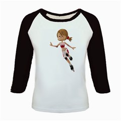 Skater Girl 3 Women s Long Cap Sleeve T Shirt by gatterwe