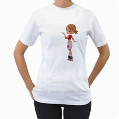 Skater Girl 4 Womens  T Shirt (white)