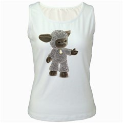 Lamb 1 Womens  Tank Top (white) by gatterwe