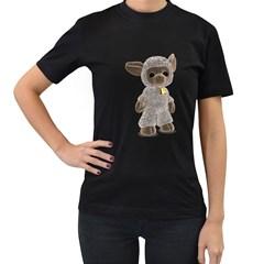 Lamb 2 Womens' Two Sided T Shirt (black) by gatterwe