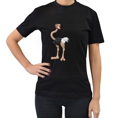 Ostrich 2 Womens' T Shirt (black) by gatterwe