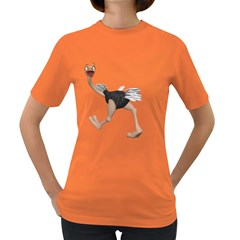 Ostrich 4 Womens' T Shirt (colored) by gatterwe