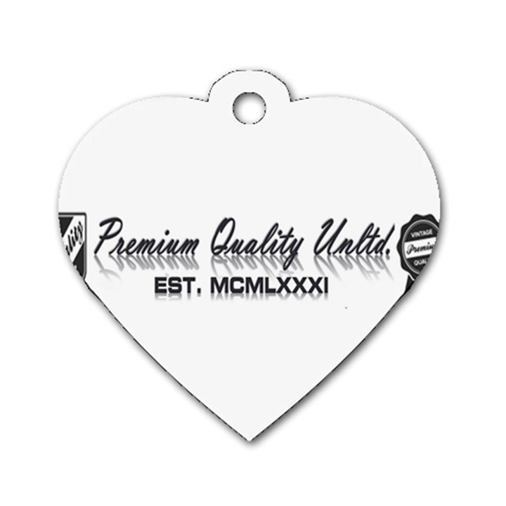 Banner Dog Tag Heart (One Sided)