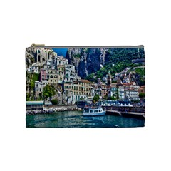 Italy Amalfi Sea And Mountains Cosmetic Bag (Medium) by FeaturedDesigns