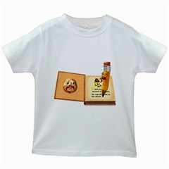Fairy Book Kids' T Shirt (white) by gatterwe