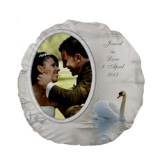 Our Love 15  Premium Round Cushion By Deborah   Standard 15  Premium Round Cushion    Bi8ztamufiot   Www Artscow Com Back