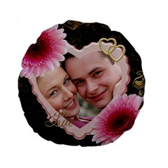 Love 15  Premium Round Cushion By Deborah   Standard 15  Premium Round Cushion    2ba1h5sdpefb   Www Artscow Com Front