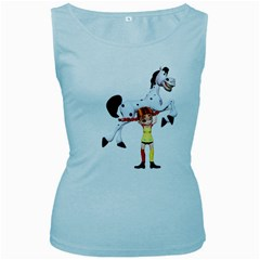 Naughty Girl 3 Womens  Tank Top (baby Blue) by gatterwe