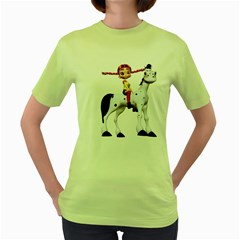 Naughty Girl 4 Womens  T Shirt (green) by gatterwe