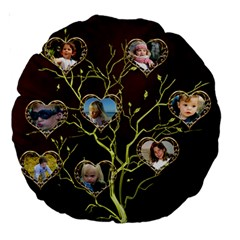 Family Tree 18  Premium Round Cushion By Deborah   Large 18  Premium Round Cushion    S7ga2ky0p80y   Www Artscow Com Front