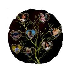 Family Tree 15  Premium Round Cushion By Deborah   Standard 15  Premium Round Cushion    Oans6qkgu4tk   Www Artscow Com Back