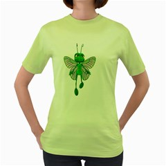 Fly 3 Womens  T Shirt (green) by gatterwe