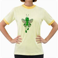 Fly 3 Womens  Ringer T Shirt (colored) by gatterwe