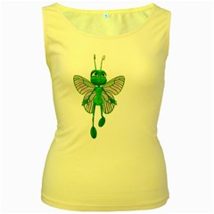Fly 3 Womens  Tank Top (yellow) by gatterwe