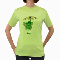 Fly 4 Womens  T Shirt (green) by gatterwe
