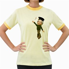 Einstein 1 Womens  Ringer T Shirt (colored) by gatterwe