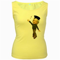 Einstein 1 Womens  Tank Top (yellow) by gatterwe