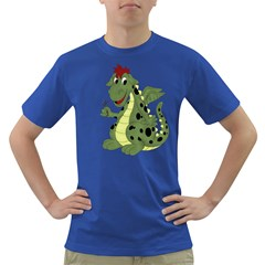 Cartoon Dragon Mens' T Shirt (colored) by gatterwe
