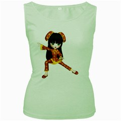 Kawaii China Girl 2 Womens  Tank Top (green) by gatterwe