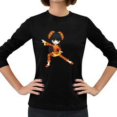 Kawaii China Girl 2 Womens' Long Sleeve T Shirt (dark Colored) by gatterwe