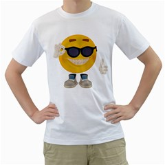 Holiday Smiley Mens  T Shirt (white) by gatterwe