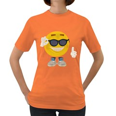Holiday Smiley Womens' T Shirt (colored) by gatterwe