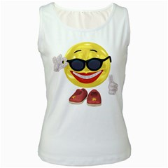 Holiday Woman Smiley Womens  Tank Top (white) by gatterwe