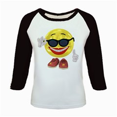 Holiday Woman Smiley Women s Long Cap Sleeve T Shirt by gatterwe