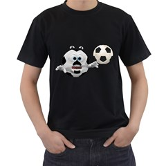 Soccer Smiley Mens' Two Sided T Shirt (black) by gatterwe