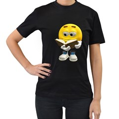 Book Smiley Womens' T Shirt (black) by gatterwe