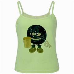 Beer Smiley Green Spaghetti Tank by gatterwe