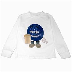 Beer Smiley Kids Long Sleeve T Shirt by gatterwe