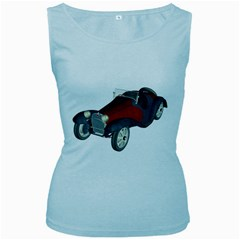 Old Timer Womens  Tank Top (baby Blue) by gatterwe