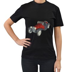 Old Timer Womens' T Shirt (black) by gatterwe