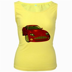 Red Sport Car 1 Womens  Tank Top (yellow) by gatterwe