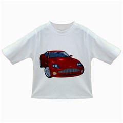 Red Sport Car 1 Baby T Shirt by gatterwe