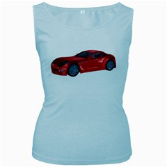 Red Sport Car 2 Womens  Tank Top (baby Blue) by gatterwe