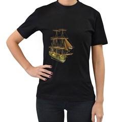 Ship 2 Womens' T Shirt (black) by gatterwe