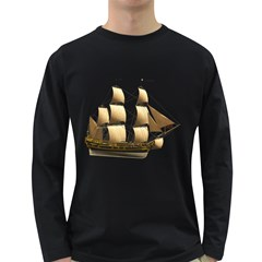 Ship 3 Mens' Long Sleeve T Shirt (dark Colored)