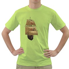 Ship 4 Mens  T Shirt (green) by gatterwe
