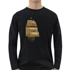 Ship 4 Mens' Long Sleeve T Shirt (dark Colored) by gatterwe