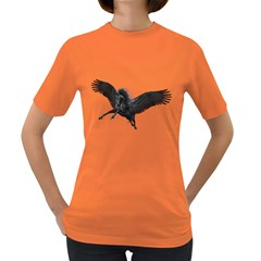 Black Pegasus Womens' T Shirt (colored) by gatterwe