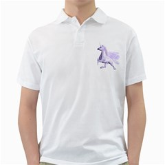 Purple Pegasus Mens  Polo Shirt (white) by gatterwe