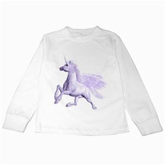 Purple Pegasus Kids Long Sleeve T Shirt by gatterwe