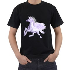 Purple Pegasus Mens' T Shirt (black) by gatterwe