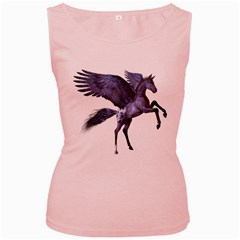 Flying Pony 1 Womens  Tank Top (pink)