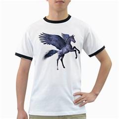 Flying Pony 1 Mens' Ringer T Shirt by gatterwe
