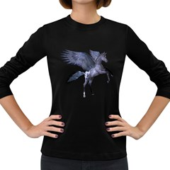 Flying Pony 1 Womens' Long Sleeve T Shirt (dark Colored) by gatterwe