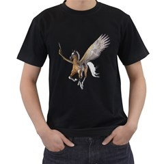 Flying Pony 2 Mens' Two Sided T Shirt (black) by gatterwe