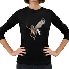 Flying Pony 2 Womens' Long Sleeve T Shirt (dark Colored) by gatterwe